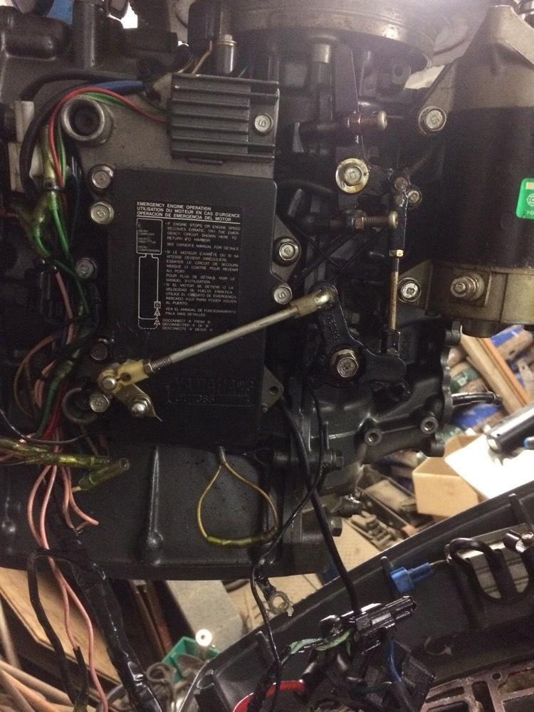 absence de courant au demarrage de moteur yamaha 50cv 2